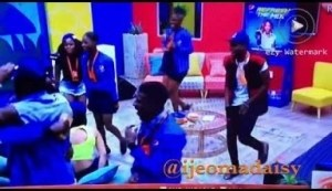Video: BB Naija - DJ Spinall And DJ Obiajent In The House | Housemates Reactions